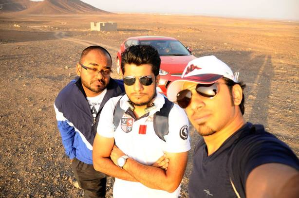 The Three Musketeers - Myself (left), Alpha (center) and Taha (right)
