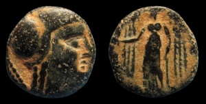 First Nabatean Coin were produced in Aretas II era