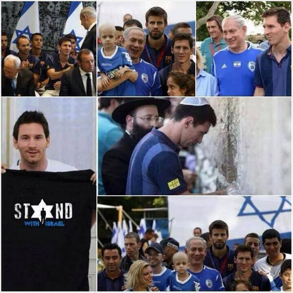 Jew Messi and pro-Israeli!!!