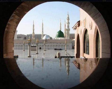 Photos-of-Madina-A-beautiful-view-of-Masjid-an-Nabawi-Madina-Pictures-of-Madina